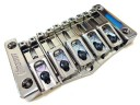 Hipshot Transtone 5 String Bass Bridge Black Nickel